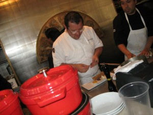Chef Florent Marneau prepares Bouillabaisse for Bastille Day in Costa Mesa, CA