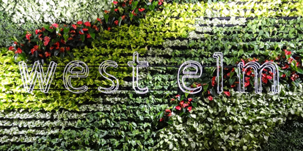 West Elm 3 Sided Living Wall