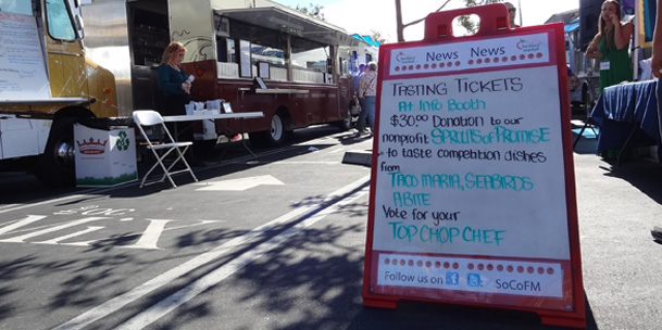 Farm To Food Truck Challenge at SoCo Farmers Market