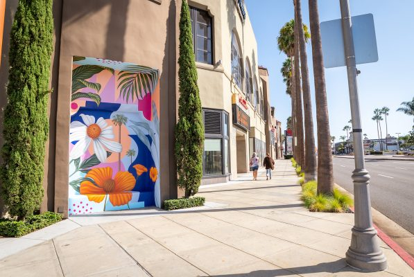Costa Mesa Bloom mural by Aaron Glasson