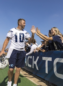 Chargers Training Camp at Jack Hammett Sports Complex in Costa Mesa August 15